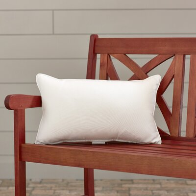 Outdoor Lumbar Pillow Color: Canvas Natural, Size: 12 H x 18 W