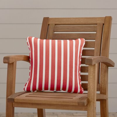 Outdoor Sunbrella Throw Pillow Fabric: Shore Flame, Width: 18, Depth: 18