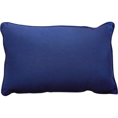 Outdoor Lumbar Pillow Color: Navy, Size: 13