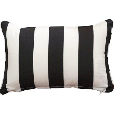 Outdoor Lumbar Pillow Height: 12, Width: 18, Color: Finnigan Tuxedo