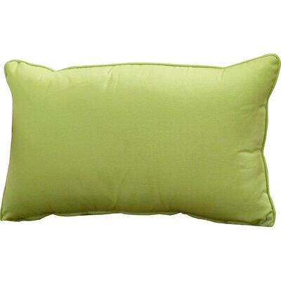 Outdoor Lumbar Pillow Color: Apple Green, Size: 13 H x 21 W