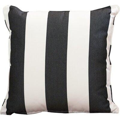 Outdoor Sunbrella Throw Pillow Color: Cabana Classic, Width: 18, Height: 18