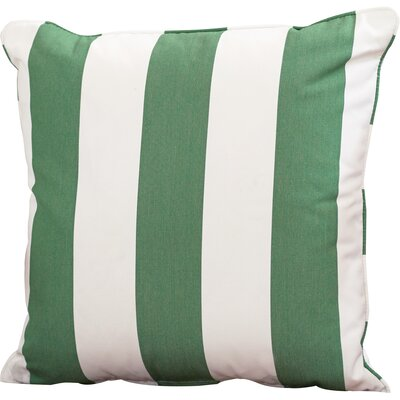 Outdoor Sunbrella Throw Pillow Width: 22, Height: 22, Color: Cabana Emerald