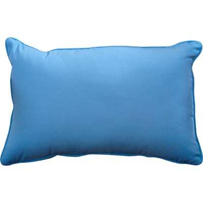 Outdoor Lumbar Pillow Color: Fresco Blue, Size: 12 H x 18 W