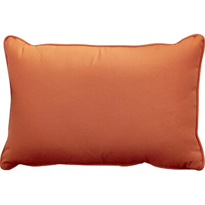 Outdoor Lumbar Pillow Size: 12 H x 18 W, Color: Fresco Mandarin