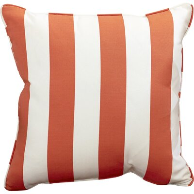Outdoor Throw Pillow Color: Finnigan Mandarin, Height: 18, Width: 18