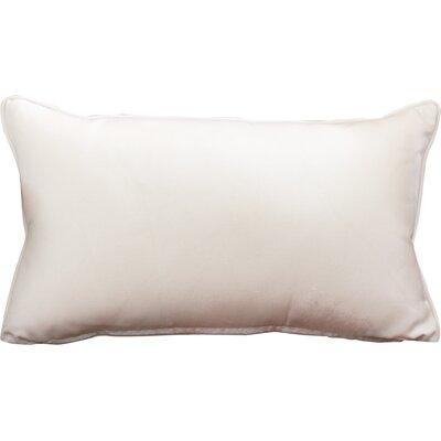 Outdoor Sunbrella Lumbar Pillow Color: Canvas Natural, Size: 12 H x 18 W