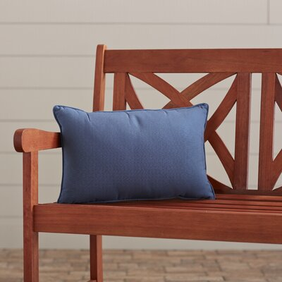 Outdoor Lumbar Pillow Color: Canvas Sapphire Blue, Size: 12 H x 18 W