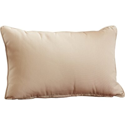 Outdoor Lumbar Pillow Size: 13 H x 21 W, Color: Canvas Antique Beige