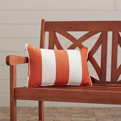 Outdoor Lumbar Pillow Width: 13, Depth: 21, Fabric: Cabana Flame