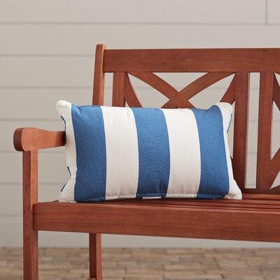 Outdoor Lumbar Pillow Fabric: Cabana Regatta, Width: 12, Depth: 18