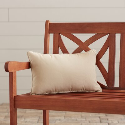 Outdoor Lumbar Pillow Color: Canvas Antique Beige, Size: 13 H x 21 W