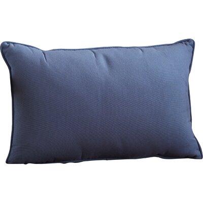 Outdoor Sunbrella Lumbar Pillow Color: Canvas Sapphire Blue, Size: 12 H x 18 W