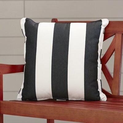 Outdoor Throw Pillow Color: Cabana Classic, Width: 16, Height: 16