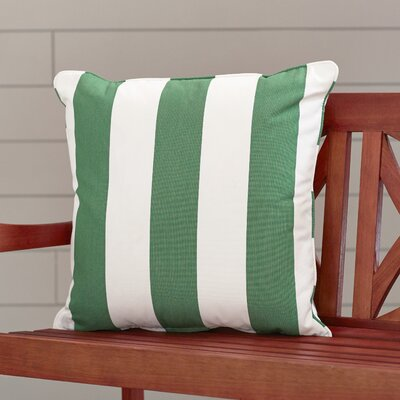 Outdoor Throw Pillow Color: Cabana Emerald, Width: 18, Height: 18