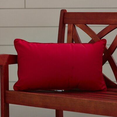 Outdoor Lumbar Pillow Color: Canvas Jockey Red, Size: 12 H x 18 W