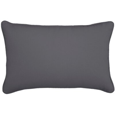 Outdoor Lumbar Pillow Color: Charcoal, Size: 12 H x 18 W