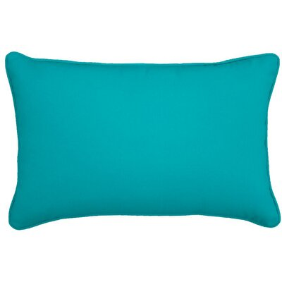 Outdoor Lumbar Pillow Color: Atlantis, Size: 13 H x 21 W