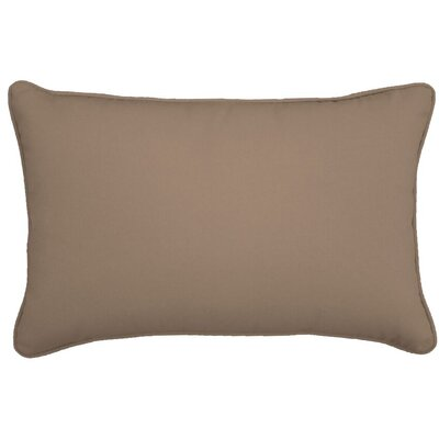 Outdoor Lumbar Pillow Color: Sandstone, Size: 12 H x 18 W