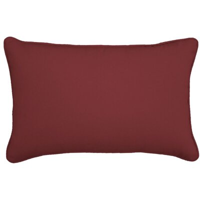 Outdoor Lumbar Pillow Size: 12 H x 18 W, Color: Lipstick