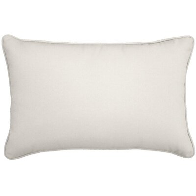Outdoor Lumbar Pillow Color: Natural, Size: 12 H x 18 W