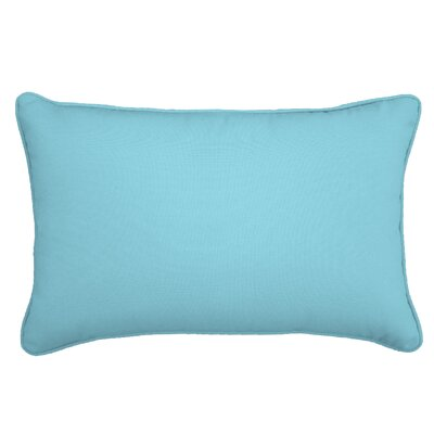 Outdoor Lumbar Pillow Color: Fresco Caribbean, Size: 13 H x 21 W
