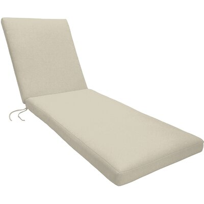 Knife Edge Outdoor Chaise Lounge Cushion