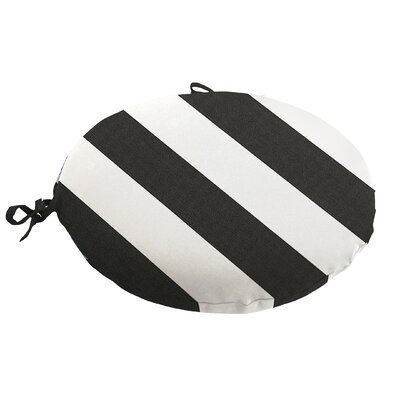 Knife Edge Outdoor Sunbrella Round Dining Cushion with Ties