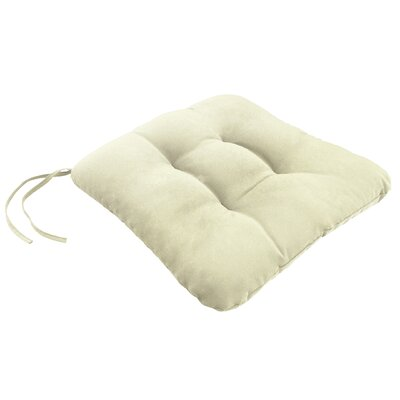 Knife Edge Outdoor Sunbrella Square Dining Cushion Tufted with Ties