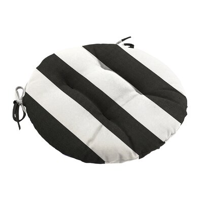 Knife Edge Outdoor Sunbrella Round Dining Cushion Tufted with Ties