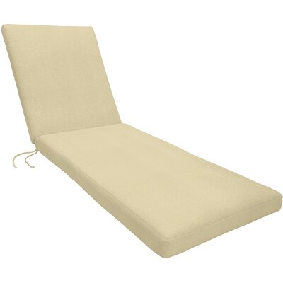Knife Edge Outdoor Sunbrella Chaise Lounge Cushion with Zipper
