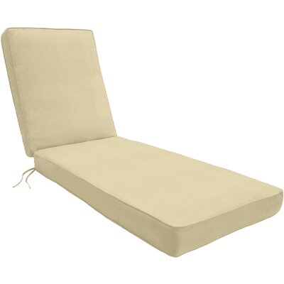 Double-Piped Outdoor Sunbrella Chaise Lounge Cushion