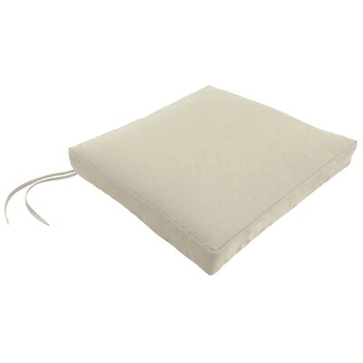 Knife Edge Outdoor Square Dining Chair Cushion with Ties