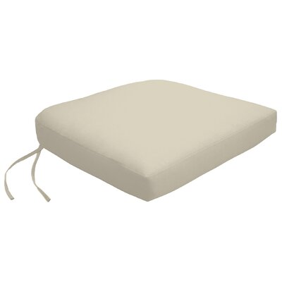 Knife Edge Outdoor Contour Dining Chair Cushion with Ties