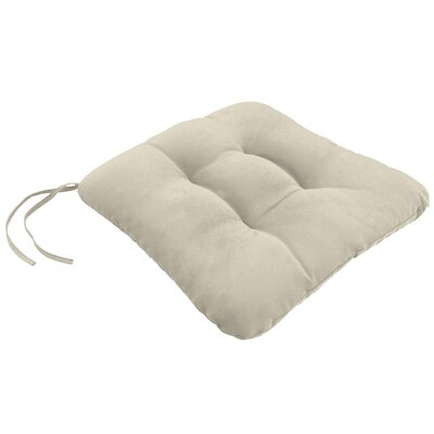 Knife Edge Outdoor Square Dining Chair Cushion Tufted with Ties