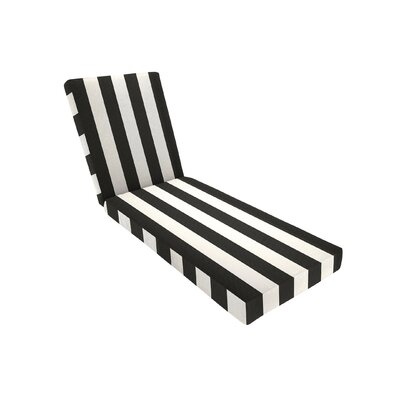 Knife Edge Outdoor Sunbrella Chaise Seat Cushion with Zippered