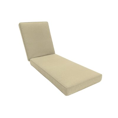 Double-Piped Outdoor Sunbrella Chaise Seat Cushion with Zippered