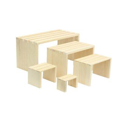 5 Piece Slatted Rectangle Riser Set
