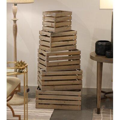 5 Piece Nested Crate Set