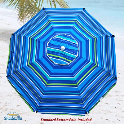 8 Premium Beach Umbrella with Integrated Anchor and Hanging Hook