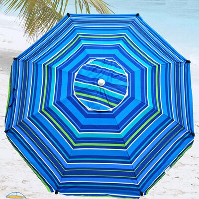 8 Premium Beach Umbrella with Hanging Hook and Drink Holder