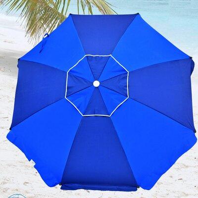8 Premium Beach Umbrella with Integrated Anchor