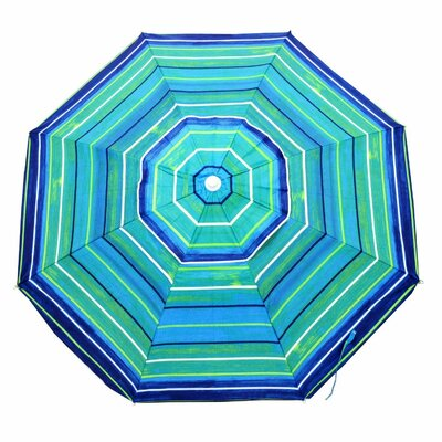 6.5 Platinum Beach Umbrella Color: Green/Blue