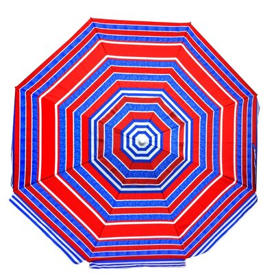 6.5 Platinum Beach Umbrella Color: Red/ Blue