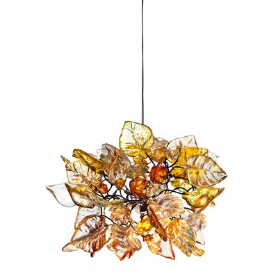 1-Light Mini Pendant Shade Color: Honey Comb