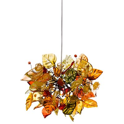 1-Light Mini Pendant Shade Color: Spring Radiance