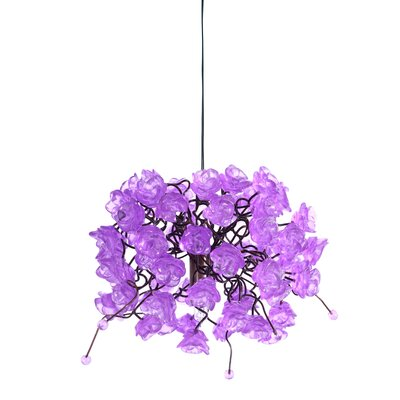 Rosettes 1-Light Mini Pendant Shade Color: Lilac