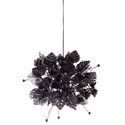 1-Light Mini Pendant Shade Color: Black Raven