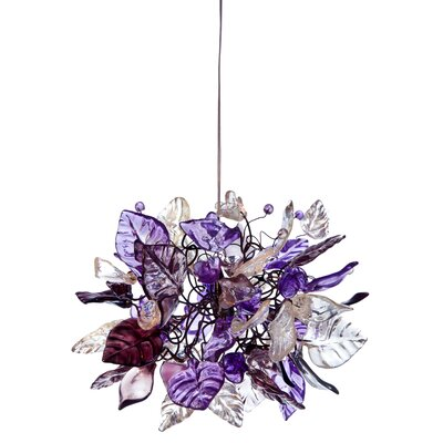 1-Light Mini Pendant Shade Color: Violet Frost
