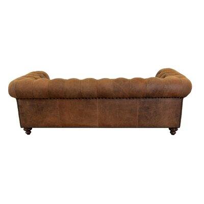Newbury Leather Chesterfield Sofa Upholstery Color: Distressed Whiskey